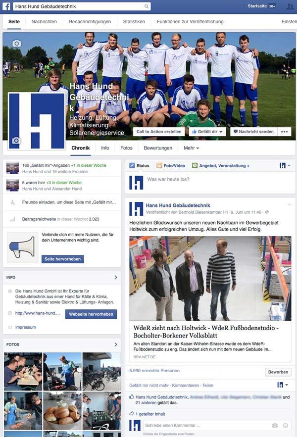 Hans Hund GmbH Facebookseite